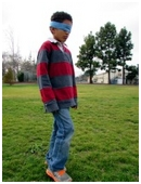 This project will explore whether test subjects, deprived of points of reference, will, in attempting to walk a straight course, walk in circles.