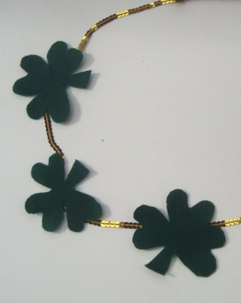 Third Grade Arts & crafts Activities: Shamrock Necklace