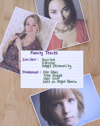 Middle School Social Studies Science Projects: Do Certain Physical and Mental Traits Run in the Family?