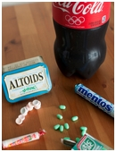 Discover if soda geysers will erupt when using regular vs. diet cola and which candies will create eruptions.