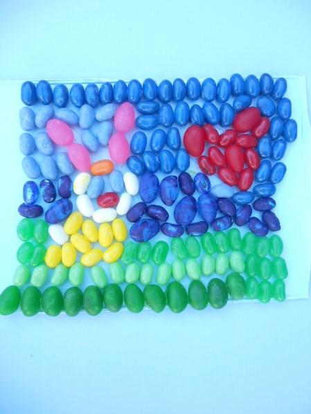 First Grade Holidays & Seasons Activities: Jelly Bean Art