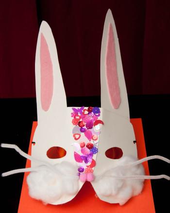 First Grade Holidays Activities: Bunny Mask