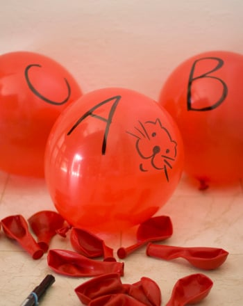Kindergarten Offline Games Activities: Play an ABC Balloon Game