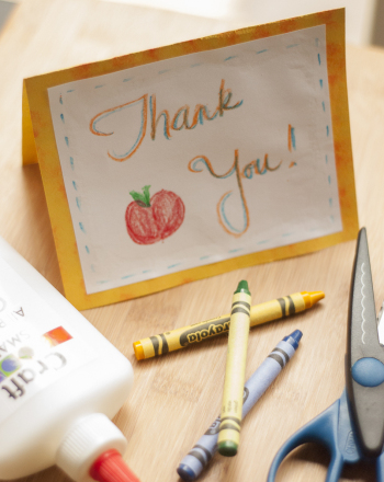 Fifth Grade Arts & crafts Activities: Thank You Notes for Teachers