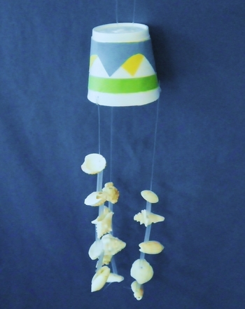 First Grade Arts & crafts Activities: Craft a Seashell Wind Chime