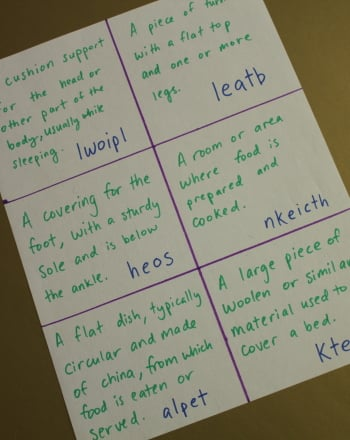 Second Grade Reading & Writing Activities: Scrambled Words