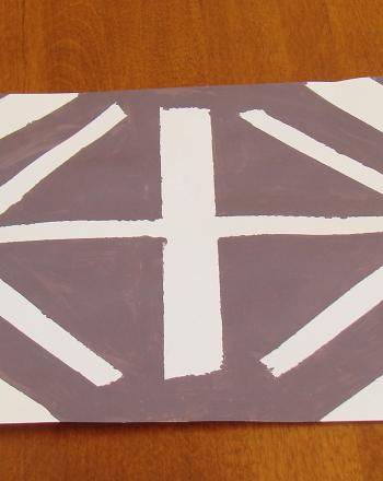 Preschool Arts & Crafts Activities: Paint Designs with Tape