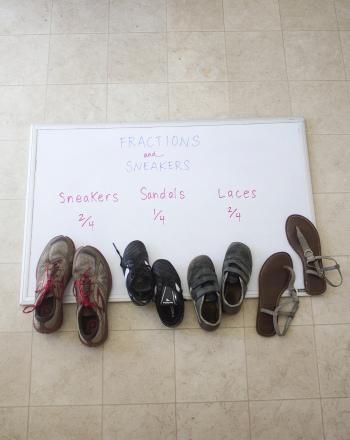 Third Grade Math Activities: Footwear Fraction Fun