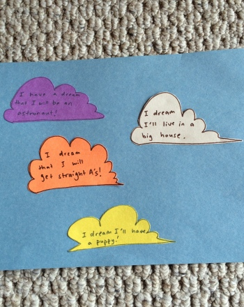 Second Grade Arts & crafts Activities: Dream Clouds