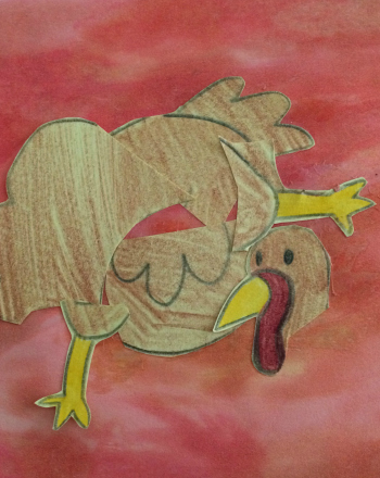 Kindergarten Holidays Activities: Make a Mixed-Up Turkey Collage