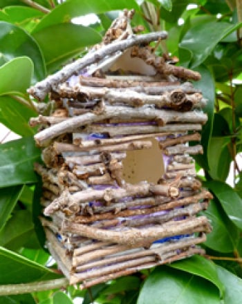 Second Grade Arts & crafts Activities: Make a Recycled Twig Birdhouse