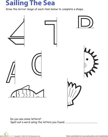 Symmetry Worksheets | Education.com