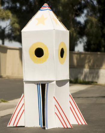 Preschool Math Activities: Build a Rocket Ship