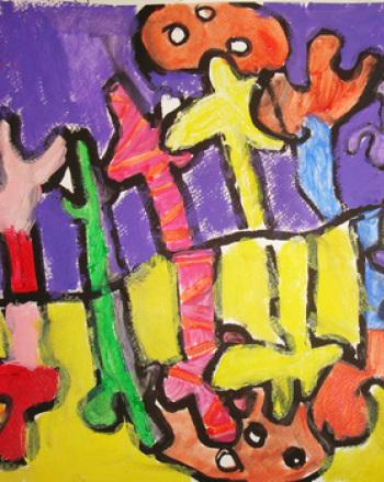 Third Grade Arts & Crafts Activities: Fauvist Painting