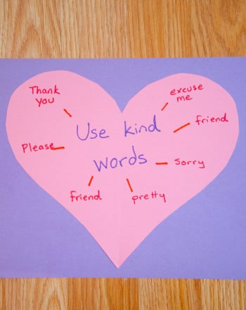 First Grade Arts & Crafts Activities: Kind Words
