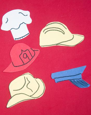 First Grade Holidays Activities: Job Hats