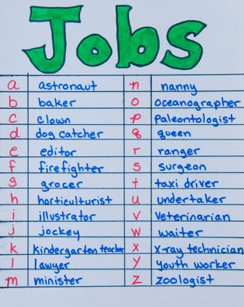 Fourth Grade Reading & Writing Activities: Jobs A to Z