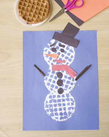 Preschool Arts & crafts Activities: Waffle Snowman