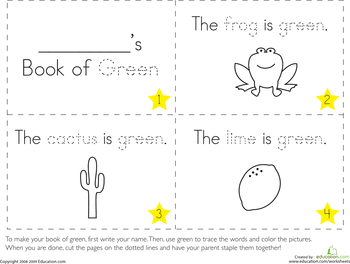 the color green - Color Books For Kindergarten