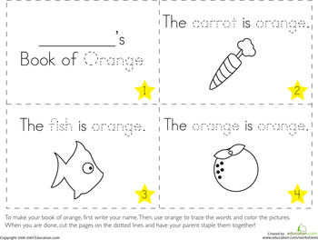 Learning Colors: Make 8 Color Books | Education.com