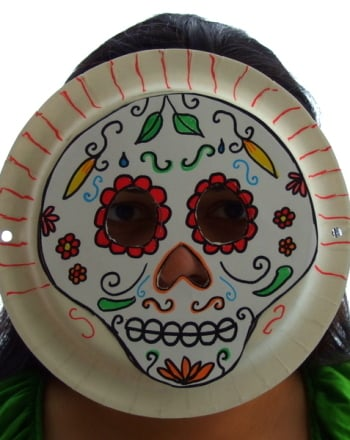 Second Grade Holidays & Seasons Activities: Make Day of the Dead Masks