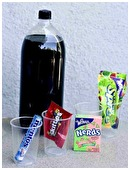 This science fair project what causes a soda eruption and what kinds of candy create this effect?