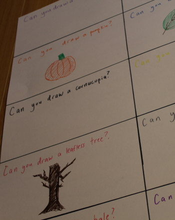 Second Grade Holidays & Seasons Activities: Autumn Symbols Drawing Game