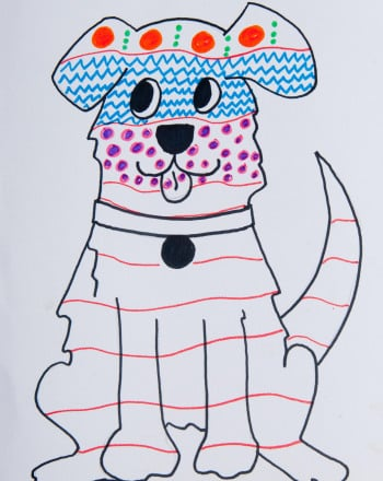 Second Grade Arts & crafts Activities: Patterned Pets