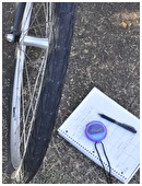 Examine how the tire treads of a bicycle affect its rolling frictional force. Change tires, test speed performance on different terrains.