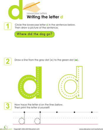 Kindergarten Letters Worksheets & Free Printables | Education.com