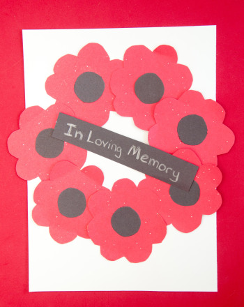 First Grade Holidays Activities: Red Poppy Wreath
