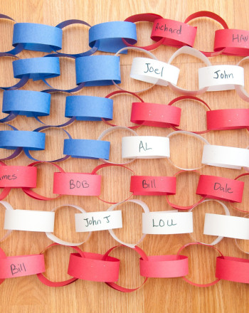 First Grade Arts & crafts Activities: Paper Chain American Flag