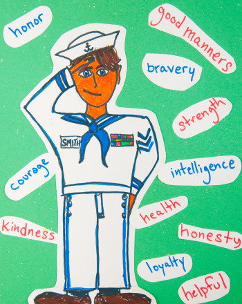Second Grade Holidays Activities: Qualities of a Soldier