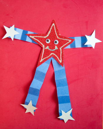 Preschool Reading & Writing Activities: Silly Star Fireworks