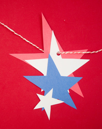 Second Grade Holidays Activities: Patriotic Star Craft