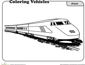 train coloring page printable