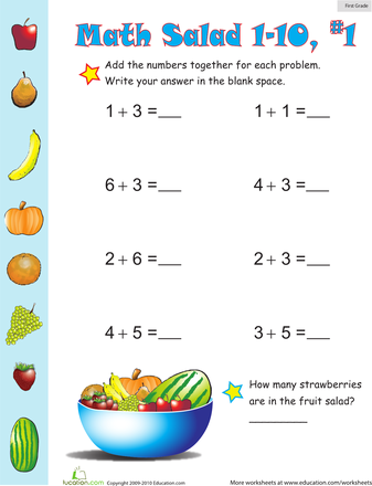 Maths Addition Worksheets For Grade 1 - Templates and Worksheets