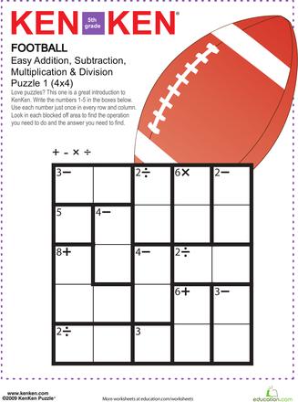 KenKen Puzzles for 5th Graders | Education.com