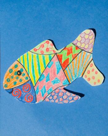 Kindergarten Arts & crafts Activities: Fish Patterns