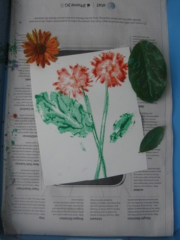 Second Grade Seasons Activities: Flower Prints