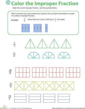 introduction to improper fractions. Black Bedroom Furniture Sets. Home Design Ideas