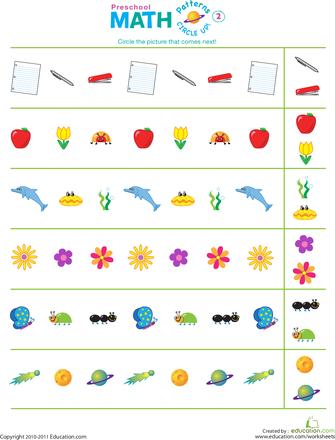 9 preschool patterning exercises. Black Bedroom Furniture Sets. Home Design Ideas
