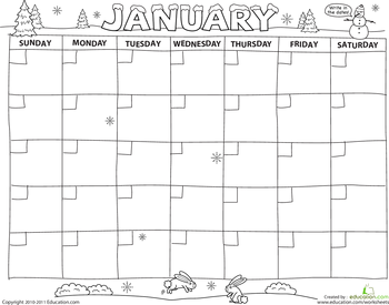 create a calendar preschool printables