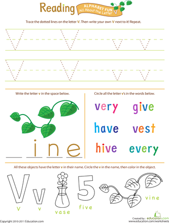 Alphabet Worksheet Set: Letters A-Z | Education.com