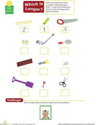 1st Grade Measurement Worksheets & Free Printables | Education.com