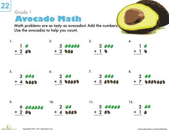 Basic Addition Worksheets for 1st Grade | Education.com
