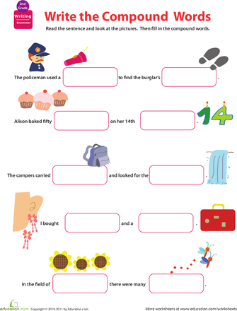 Compound Word Worksheets - 2nd Grade | Education.com