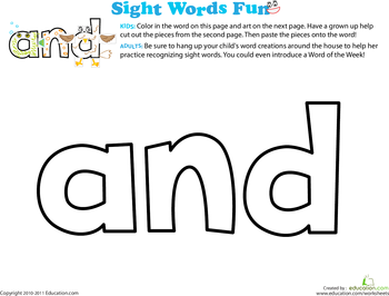 Seeing Sight Words! Printable Flashcards | Education.com