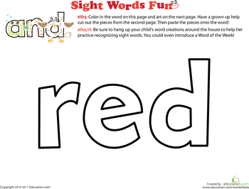 Decorate the sight words preschool coloring pages for Sight word coloring pages