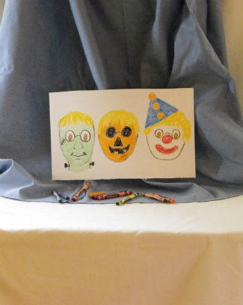 Second Grade Arts & crafts Activities: Spooky Self Portrait